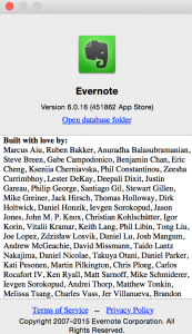 Link to the local Evernote database